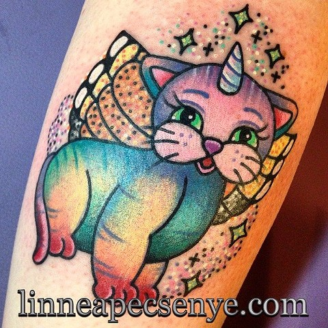 rainbow butterfly unicorn kitty by LINNEA in asheville nc chicago