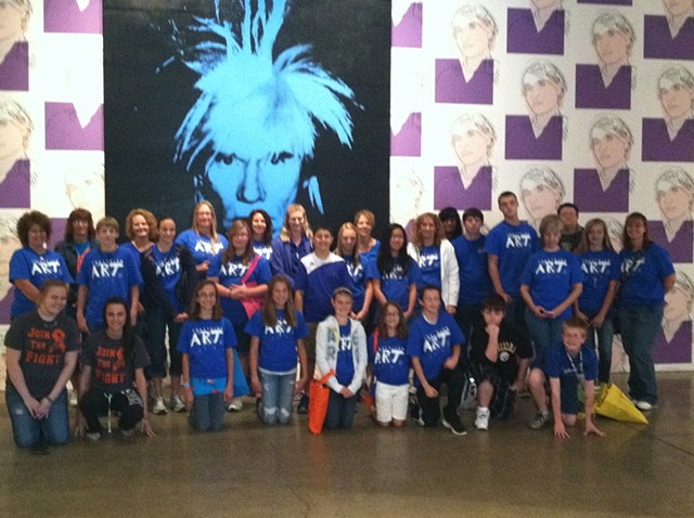 The Andy Warhol Museum Community Center fieldtrip