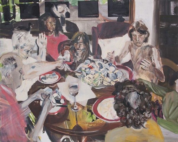 family dinner painting oilpainting holdingspace