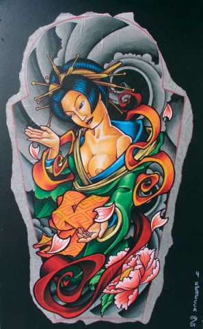 GEISHA FOR TATTOO