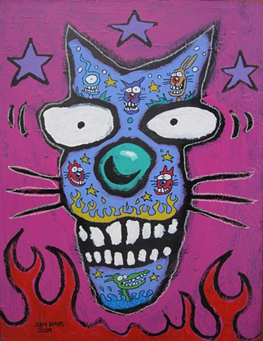 Blue Cat with Tattos