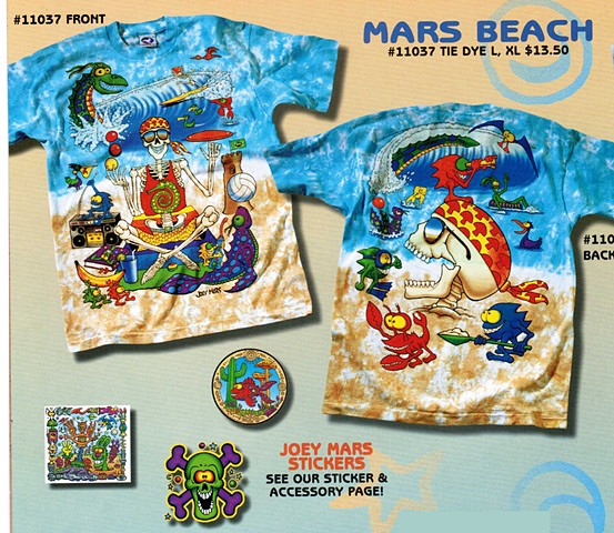 Mars Beach T shirt Design