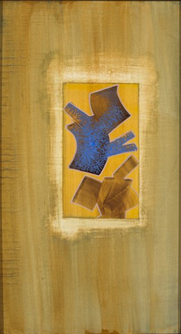 abstract egg tempera painting