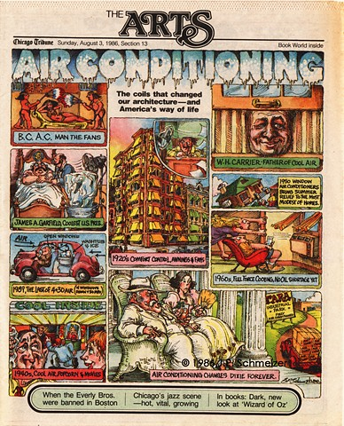 Air Conditioning, The Arts Section Cover, Chicago Tribune
