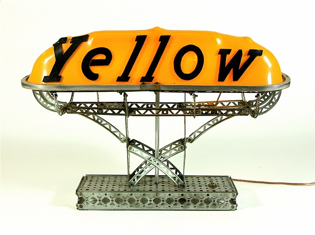Michael Thompson Chicago artist, Erector set, Taxi Light, Taxi Dome Light