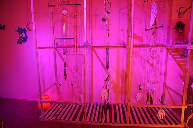 Magicians (Windchimes), Installation view of Oasis