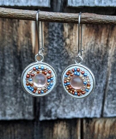 MOSAIC ROUND DROP EARRINGS