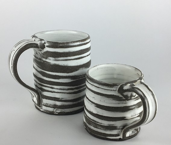 Ringed Striped Cups