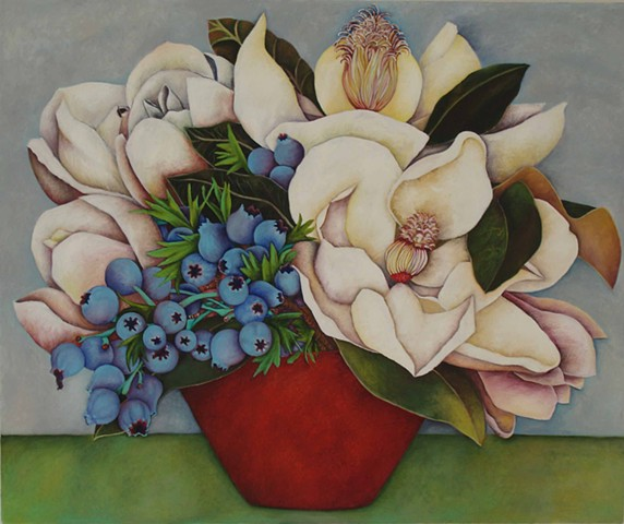 Magnolias and Berries