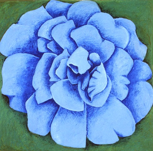 Blue Rose  on Green