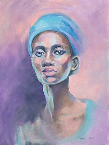 Woman in a Blue Turban