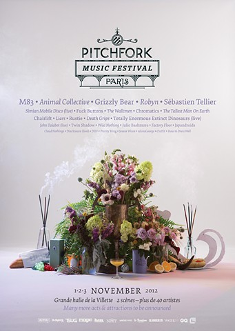 Pitchfork Paris 2012 poster