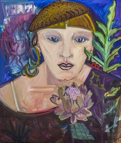 Woman with Artichoke Flower