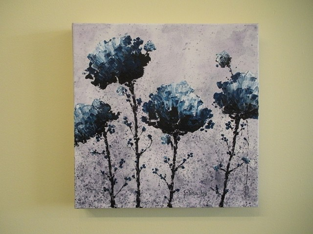 Azurite Flowers -Sold-