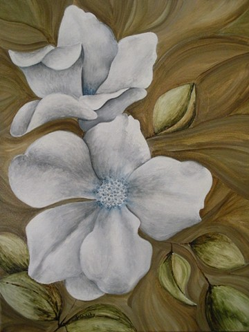 White Blooms -Sold-