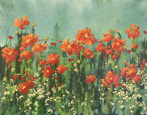 Contemplating Poppies -Sold-
