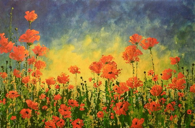 Sunset Poppies -Sold-