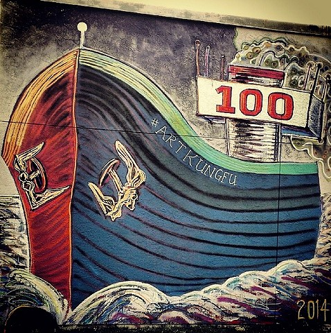 Created for the 100 year anniversary for the Houston Ship Channel. Invited by Gonzo. Street art by Angel Quesada.