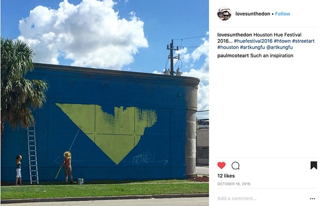 Visit Houston tourist campaign. Houston texas mural by Angel Quesada.