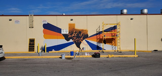 MUROS and ASTROS BASEBALL use art to reach fans. North Houston murals are few and far between, Angel Quesada painted this mural near a dense population.