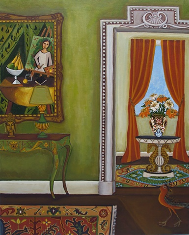 paiting of an interior by catherine nolin