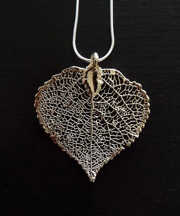 Leaf Jewelry Silver Silver Aspen Leaf Pendant