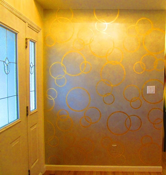 The Design Deli Decorative Paint Company - Gold leaf circle motif ...