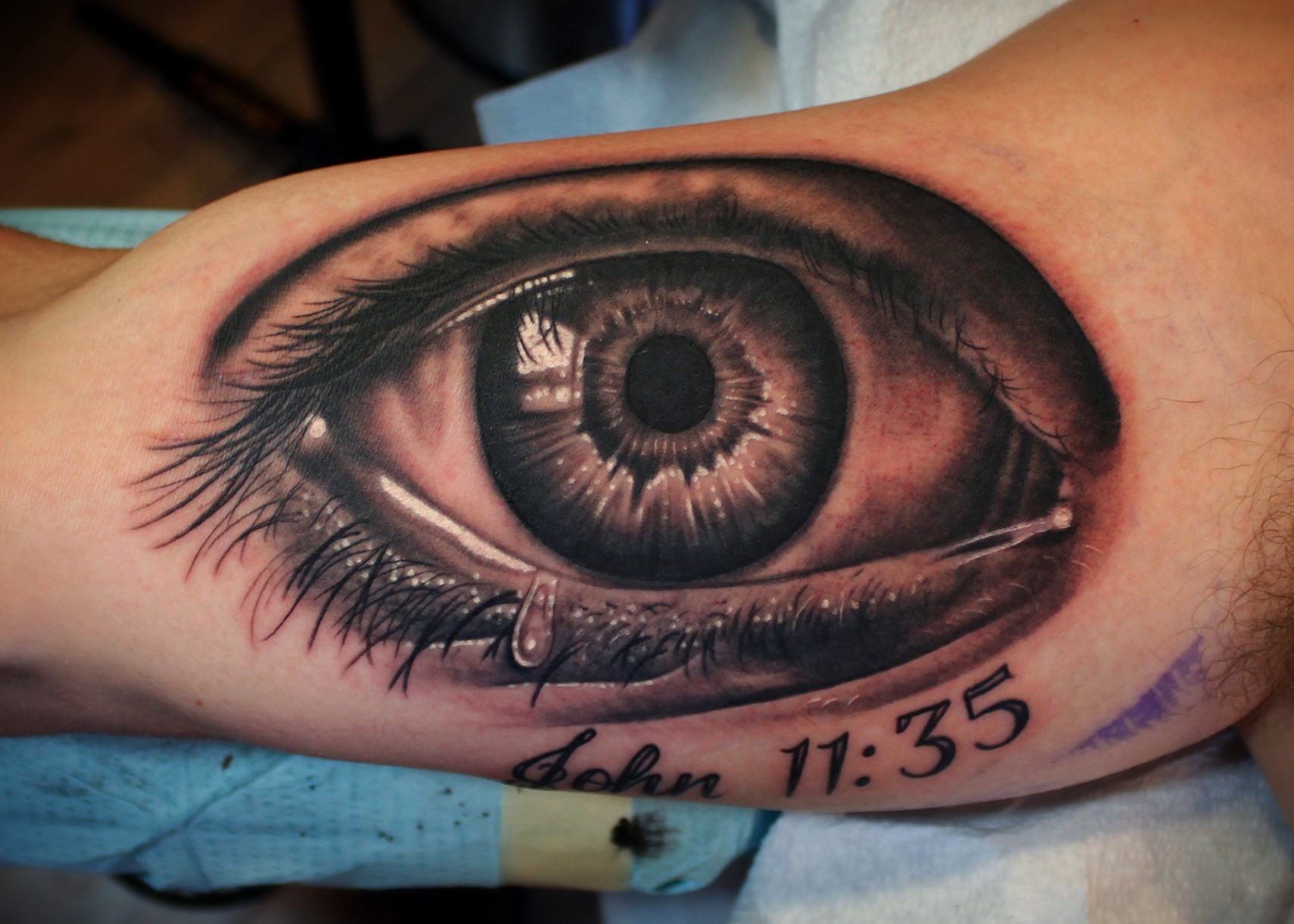 Dave wah tattoo artist baltimore maryland for Eye tattoo art
