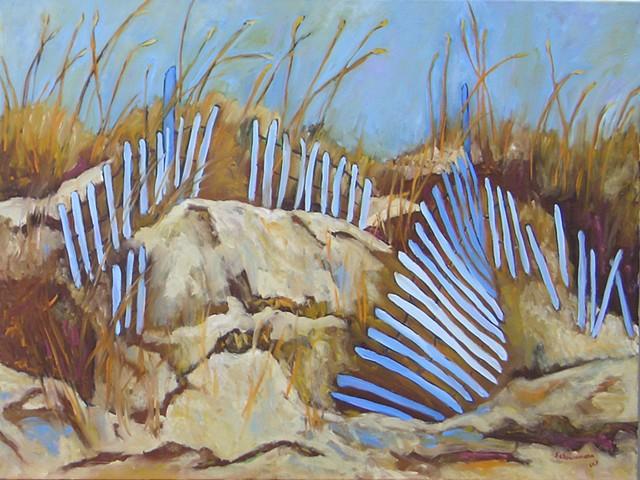 Dunes at Isle of Palms, SC-Blue Fence