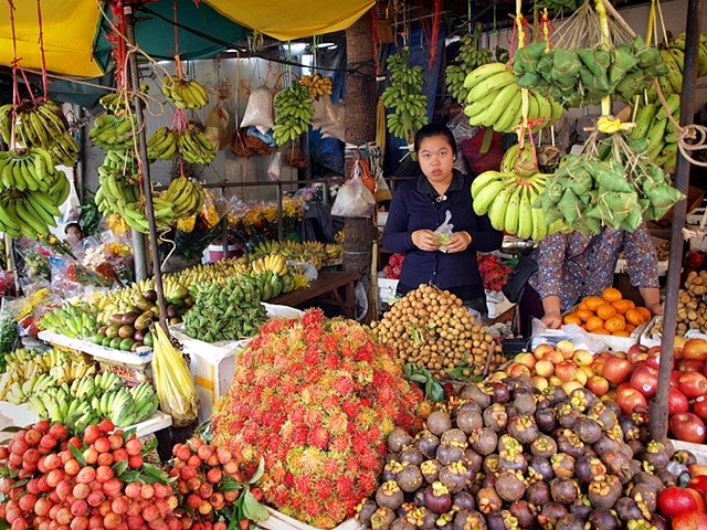 Fruit seller, Phnom Penh