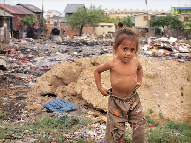 A child of the dump