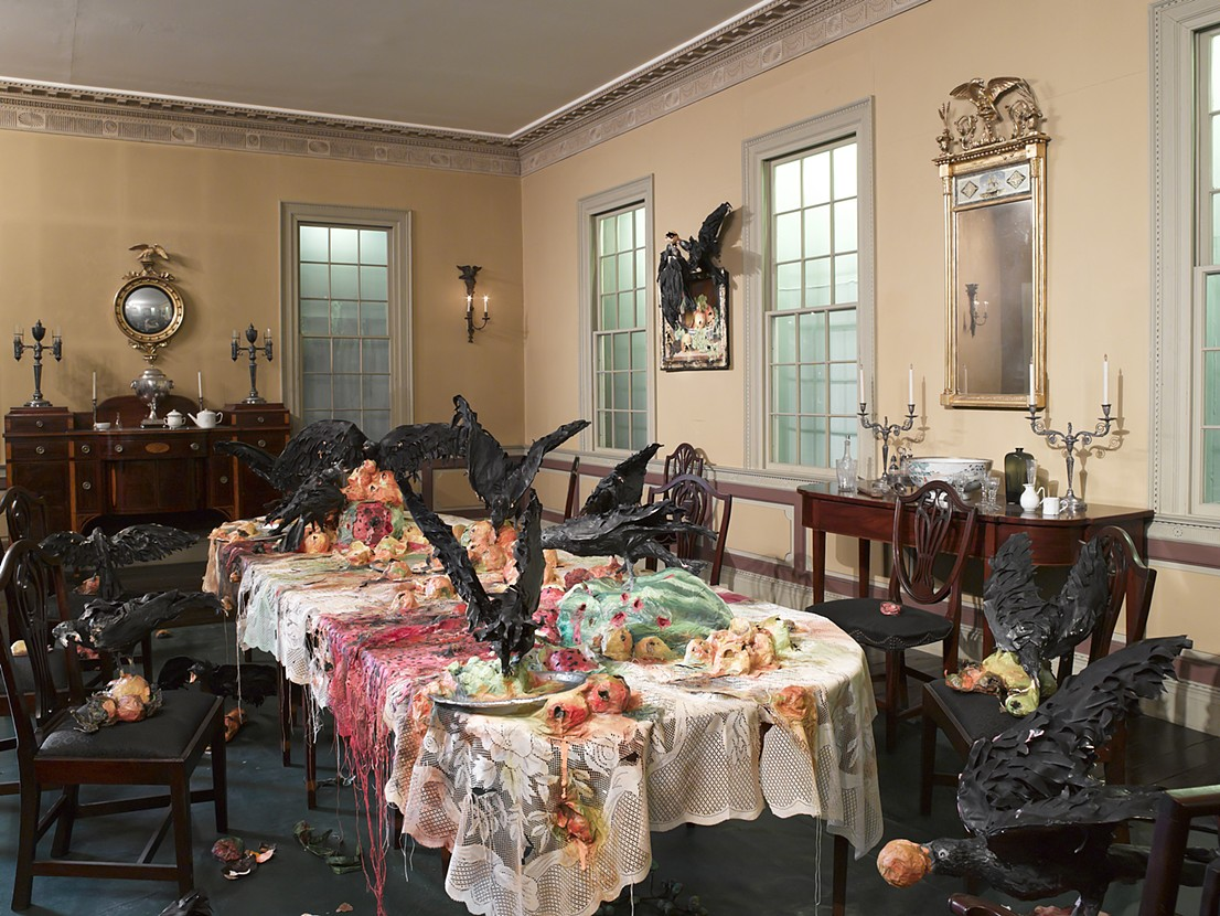 Alternative Histories The Brooklyn Museum The Canes Acres Plantation Dining  Room Still Life with Peaches. Valerie Hegarty   Alternative HistoriesThe Brooklyn MuseumThe