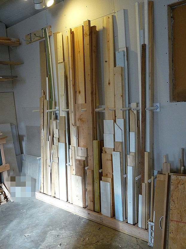 Andy maugh for Vertical lumber storage rack