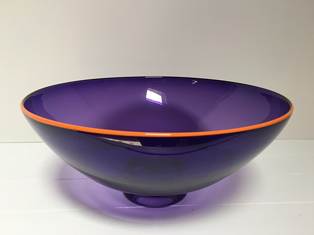 Small Purple Transparent Bowl