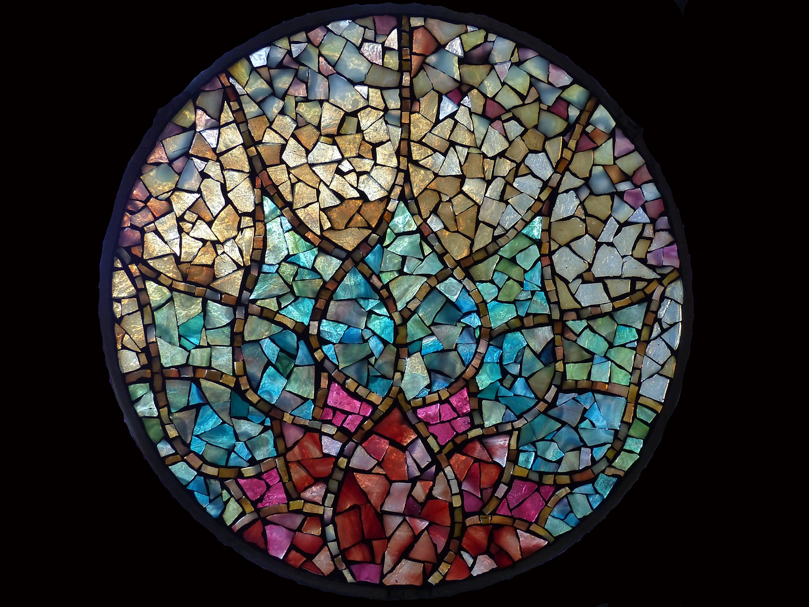 how to make stained glass mosaic window