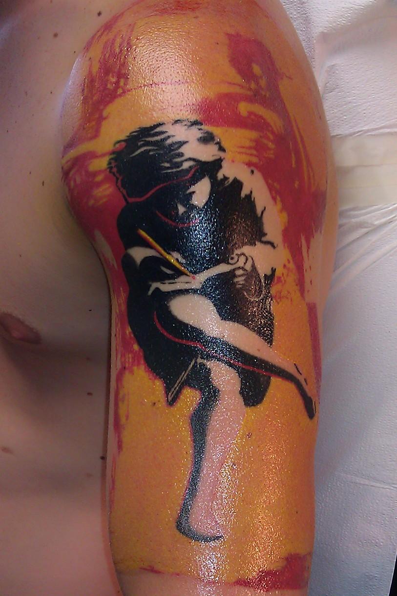 Jason salinaz splash of color east lansing mi for Guns n roses tattoos