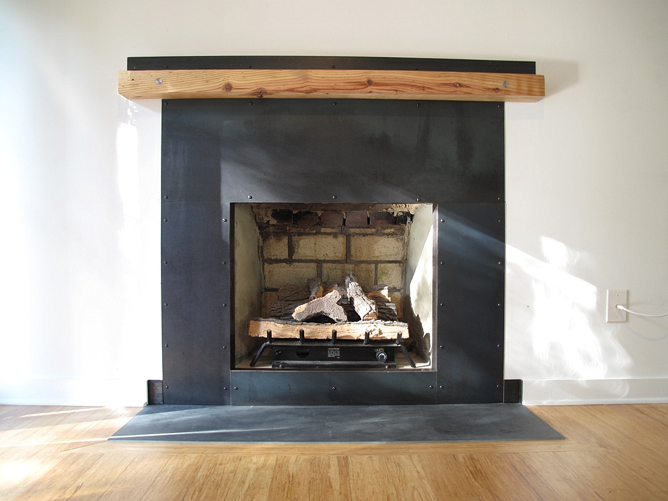 Fireplace Design metal fireplace : Leo Gaev Metalworks, Inc - Fireplace Surround