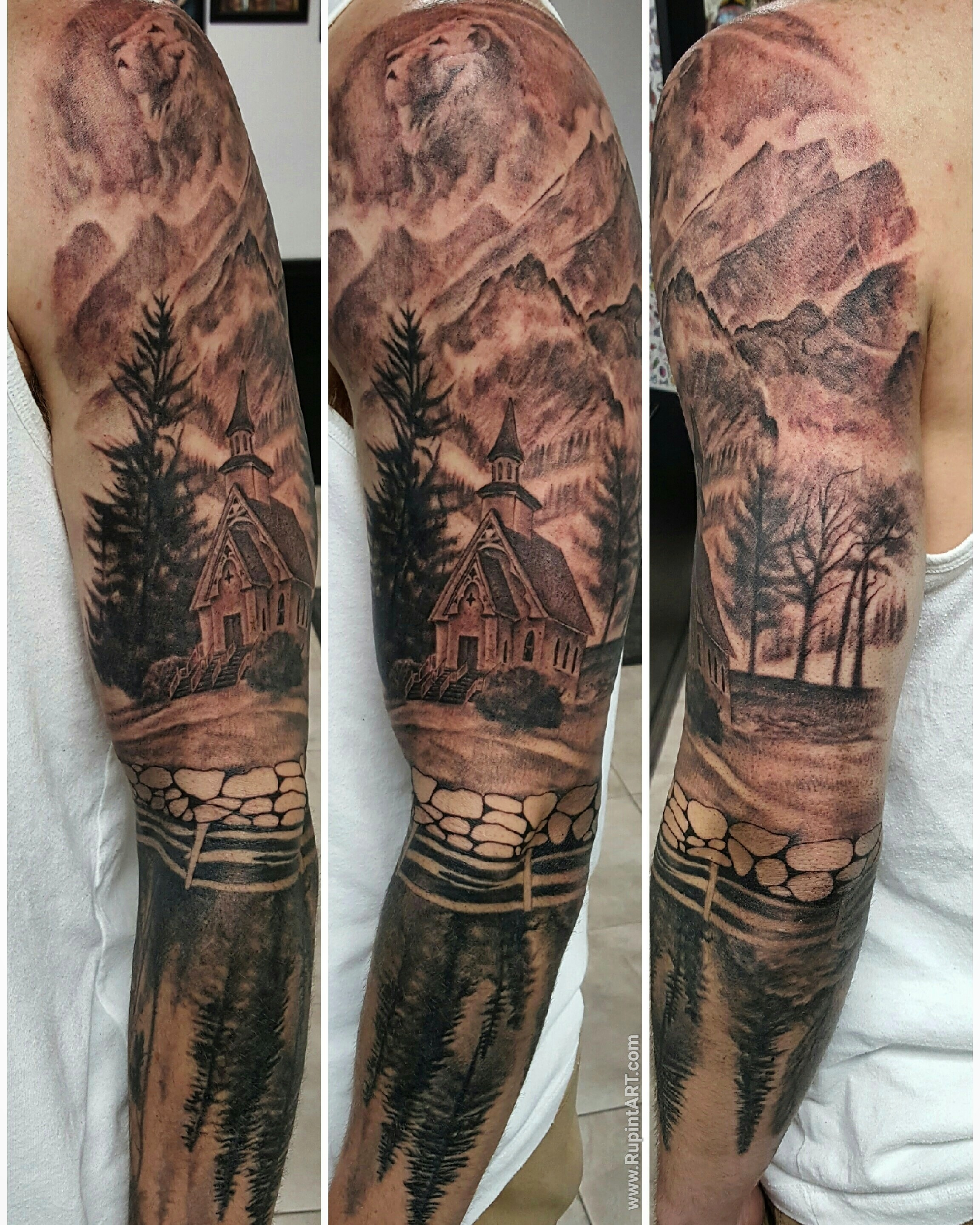 Hunting Half Sleeve Tattoo Designs