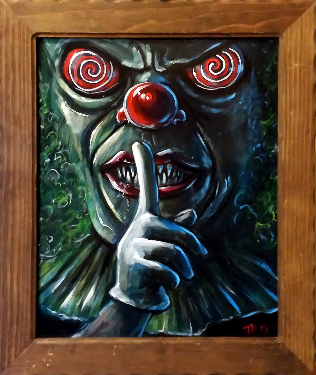 Creepy Clown by GinaAmyart on DeviantArt |Creepy Clown Painting