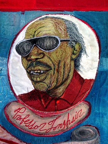 Professor Longhair (part of Rock and Roll Hall of Fame quilt)