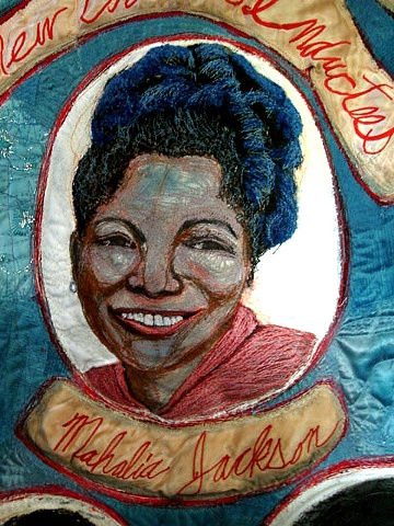 Detail of Mahalia Jackson (part of New Orleans' Inductees, Rock and Roll Hall of Fame)