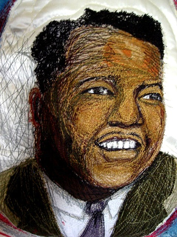 Fats Domino (part of Rock and Roll Hall of Fame quilt)