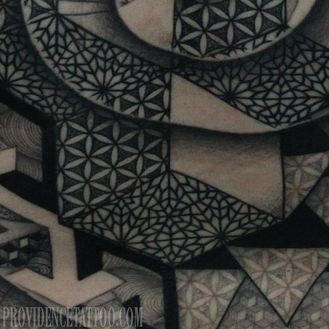 Close Up of Geometric Back Piece