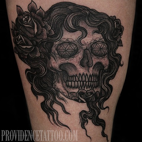day of the dead skull / dennis m del prete