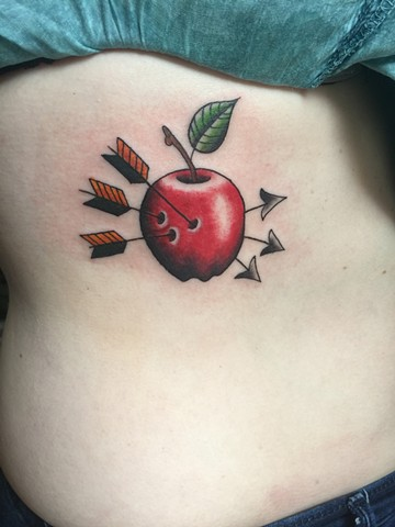 Apple, snow white, poison, apprentice, Provincetown tattoo, Cape Cod tattoo, Ptown tattoo, truro, wellfleet, custom tattoo, coastline tattoo