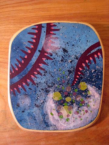tentacle space underwater spores island, painting, Provincetown, Cape Cod, Coastline, Ptown