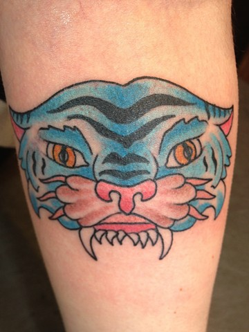 Dave Steele - blue tiger tattoo,  Provincetown tattoo, Cape Cod tattoo, Ptown tattoo, truro tattoo, wellfleet tattoo, custom tattoo, coastline tattoo