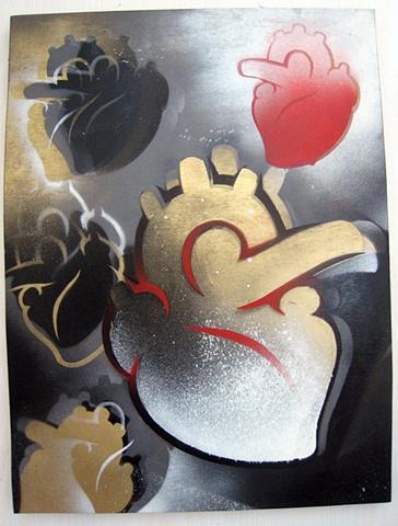 heart stencils, painting, Provincetown, Cape Cod, Coastline, Ptown