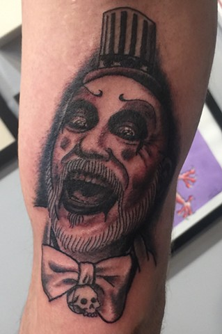 Captain spaulding tattoo, Provincetown tattoo, Cape Cod tattoo, Ptown tattoo, truro, wellfleet, custom tattoo, coastline tattoo