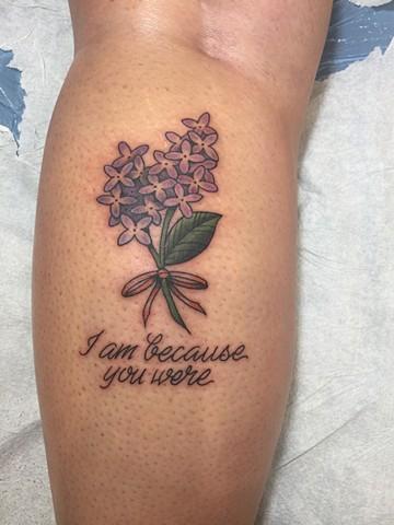 lilacs, flowers, purple, garden, blooms, Provincetown tattoo, Cape Cod tattoo, Ptown tattoo, truro, wellfleet, custom tattoo, coastline tattoo